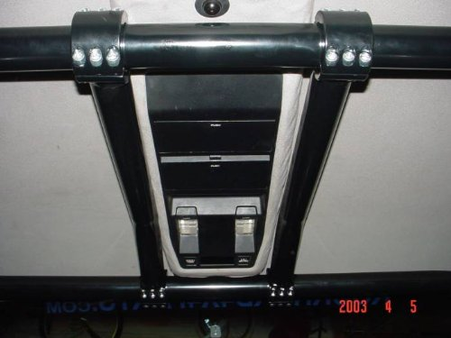 Rock Hard 4x4 RH1012-A Front Center Bars Unpainted For Rock Hard Sport Cage For 1984-96 Jeep Cherokee XJ 4 Door ()
