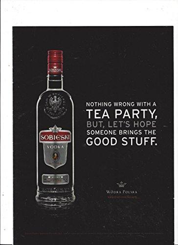 MAGAZINE ADVERTISEMENT For 2011 Sobieski Vodka: Brings The Good ()
