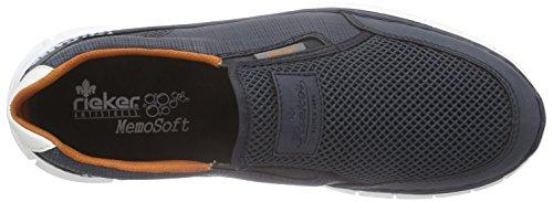 Rieker B4870 Loafers & Mocassins-men - Mocasines Hombre Azul (denim/atlantis/weiss / 14)
