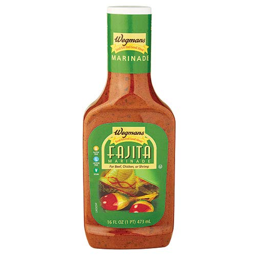 Wegmans Fajita Marinade for Beef, Chicken or Shrimp -16 Fl Oz (2 Pack) (Best Beef Fajita Marinade)