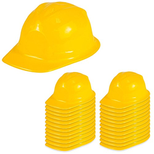 Plastic Hard Hats For Kids (Dress Up Hats - Construction Hat - 24 Soft Plastic Hats by Funny Party Hats)