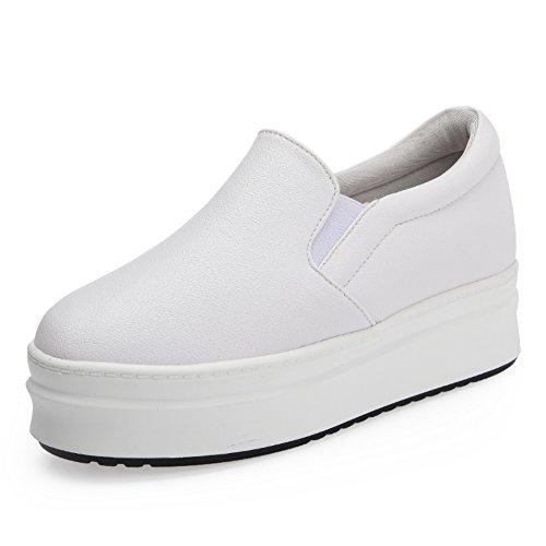 Zapatos de otoño/Plataforma zapatos aumenta dentro de los zapatos de las mujeres coreanas/zapatos casuales/zapatos negro/Zapatos de cabeza A