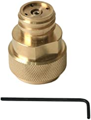 Sellution CO2 Tank Paintball Canister Refill Adapter C02 Conversion - Polished Brass