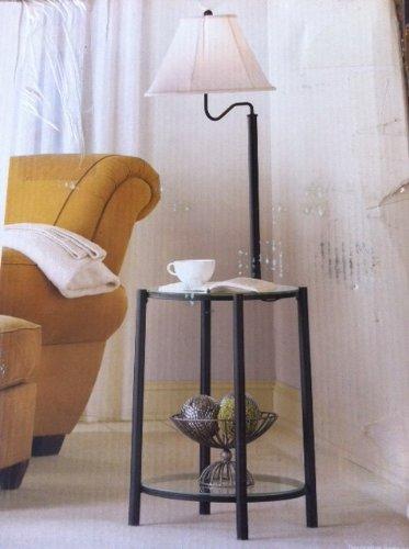 Mainstays Glass Furniture Floor Lamp