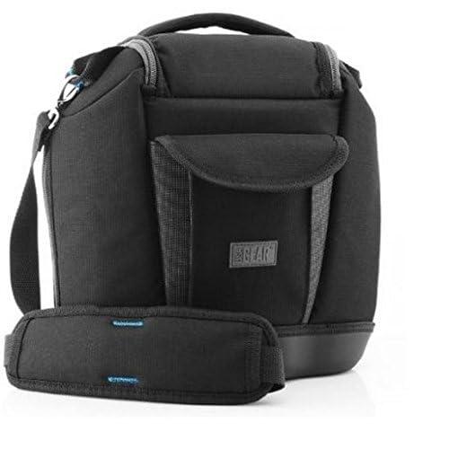 DSLR Camera Professional Medium Bag / Case with Extra Zoom Lens Storage- Works with Nikon , Canon EOS , Pentax , Olympus , Samsung , Panasonic , Sony Alpha & More Digital Cameras