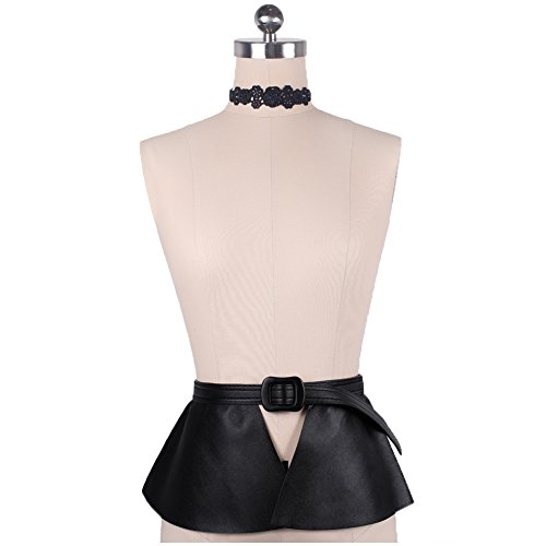 Fringe Body (Wyenliz Women's Retro Waist Belts Skirt Leather Adjustable)