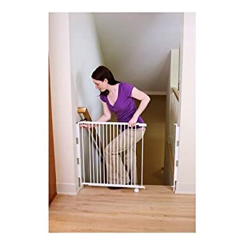 Good Regalo Expandable Top Of Stairs Baby Gate, Includes Mounting Kit