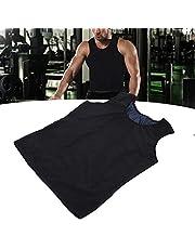 Herr body shaper smalhetsväst bastu svetsväst för viktminskning hot waist trainer body top slimming skjorta träningsoverall L/XL], fitness sport shapewear för män bastudräktKol