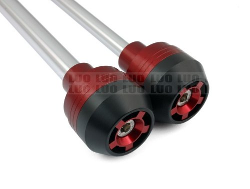 Motorcycle Racing CNC Red Front & Rear Wheel Axle Fork Crash Sliders Cap Protector Fit For Yamaha YZF 600 R6 2008-2012