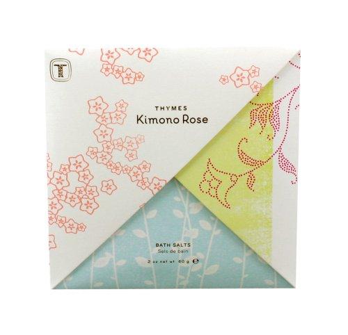 (Thymes Bath Salts Envelope, Kimono Rose, 2-Ounce Envelope (Pack of 3))