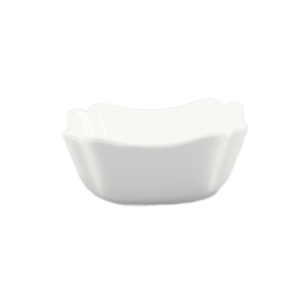 CAC China SLB-7 38-Ounce Porcelain Square Salad Bowl, 6 by 3-1/4-Inch, Super White, Box of 24