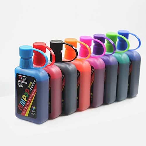 Vann92 8 Colors/set Whiteboard Ink Erasable POP Art Marker Replenisher For School Supplier
