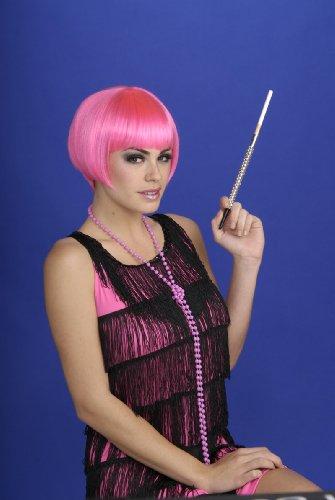 Charleston Chic Wig - Charleston Chic Pink Flapper Wig