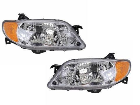Mazda Protege 4-Door Sedan Aluminium Bezel New Headlights (03 Mazda Protege 4 Door)