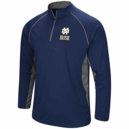 Adult Windshirt - Colosseum Notre Dame Fighting Irish Adult NCAA 1/4 Zip Windshirt - Navy, X-Large
