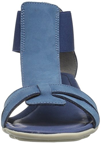 The Flexx Women's Band Together Gladiator Sandal, Canna Saff, 6 M US Denim Nubuck