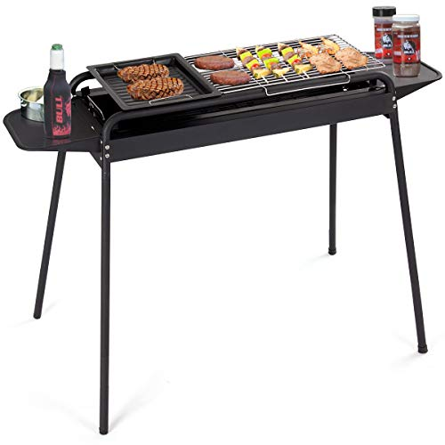 HAPPYGRILL BBQ Grill Charcoal Barbecue Cooker, Portable Outdoor Camping Picnics Grill