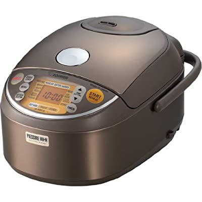 Click for Zojirushi Induction Heating Pressure Rice Cooker & Warmer 1.0 Liter, Stainless Brown NP-NVC10