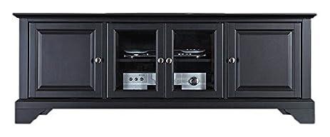 Crosley Furniture LaFayette 60 Inch Low Profile TV Stand   Black