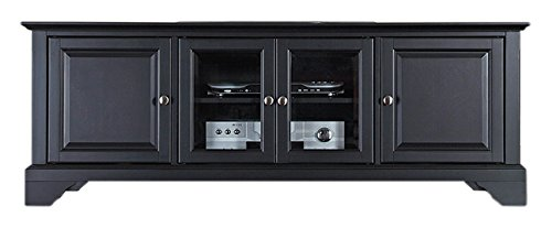 Crosley Furniture KF10005BBK LaFayette 60-inch Low-Profile TV Stand, Black