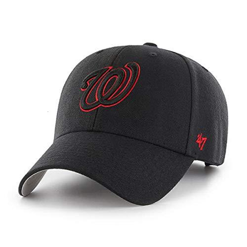 '47 Washington Nationals MVP Wool Black with Red Outline Adjustable Hat Cap MLB