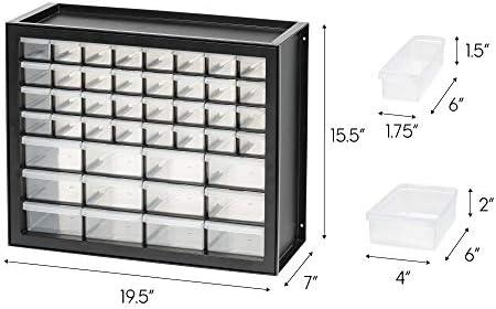 IRIS USA 44 Drawer Parts and Hardware Cabinet, Black