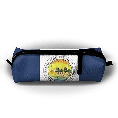 Oxfords Toledo (EWFBVa Durable Zipper Stationery Bag Flag Of Toledo Ohio Big Capacity Pencil Case)