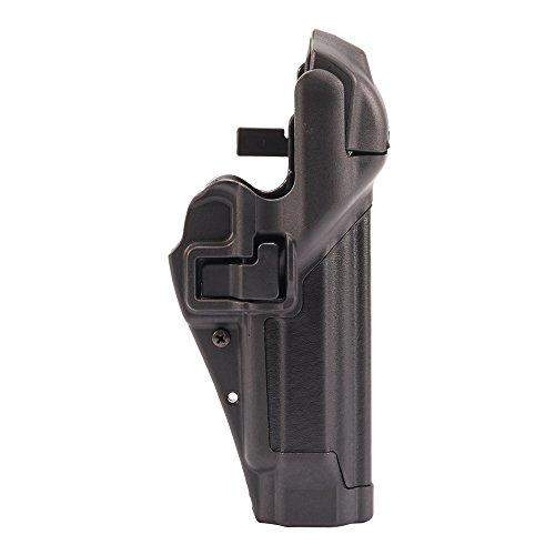 BLACKHAWK! SERPA Level 3 Auto Lock Duty Plain Finish Holster, Size 04, Right Hand (Beretta 92/96/M9 Std or A1 w/rails (NOT Brig/Elite)