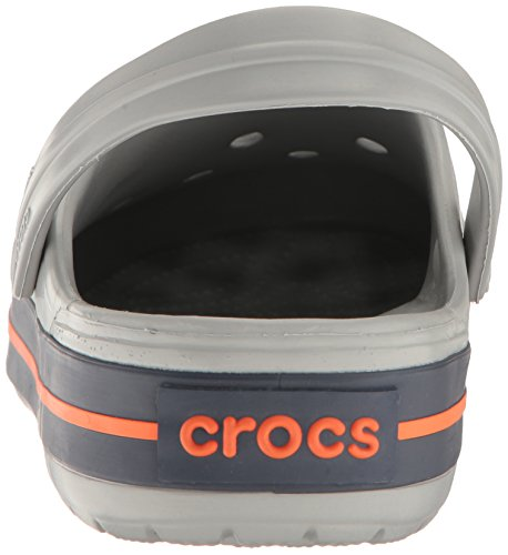 Crocs Crocband, Zuecos Unisex Adulto Grigio (Light Grey/Navy)