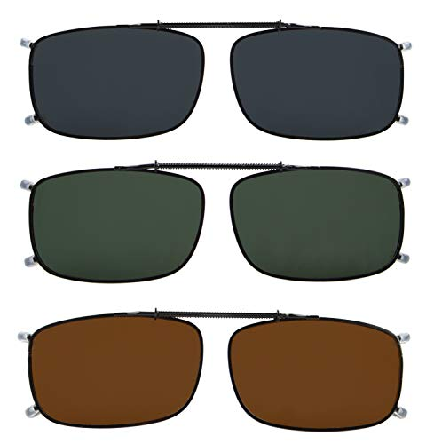 af4dbc898494 Eyekepper Grey Brown G15 Lens 3-pack Clip-on Polarized Sunglasses 2 ...
