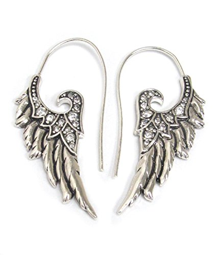 Crystal Angel Wings 316L Surgical Steel Fashion Earrings / Unique Gifts and Souvenir