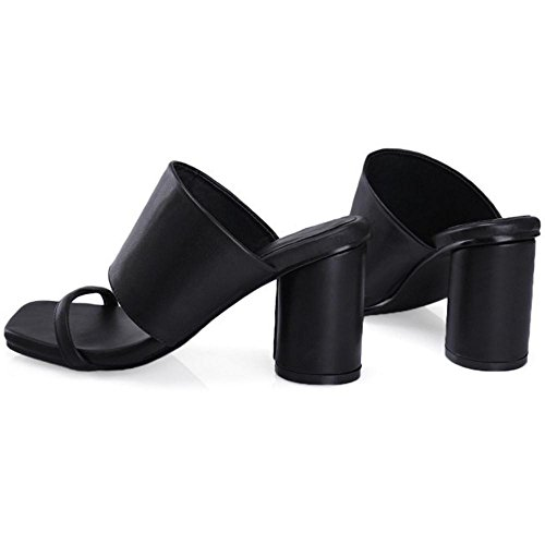 Black Mules Cordones Sin Coolcept Mujer Sandalias ARzvtwq