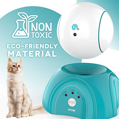petnf Cat Laser Toy,Laser Ball for Cats,Cat Toys Interactive,Non-Toxic and Eco-Friendly Cat Toy with Three Play Mode,Separation Design and Timer Setting Laser Toy,360°Automatic Rotating Laser Toy 5