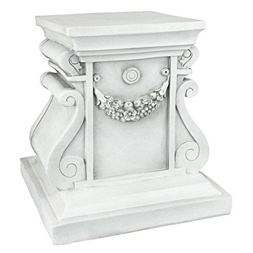 Design Toscano Classic Statuary Garden Plinth Base Riser, Medium 12 Inch, Polyresin, Antique Stone ()