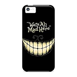 Iphone 5c Fdj18233MGoZ Allow Personal Design High Resolution Alice In Wonderland We Are All Mad Here Pattern Best Cell-phone Hard Covers -AlissaDubois