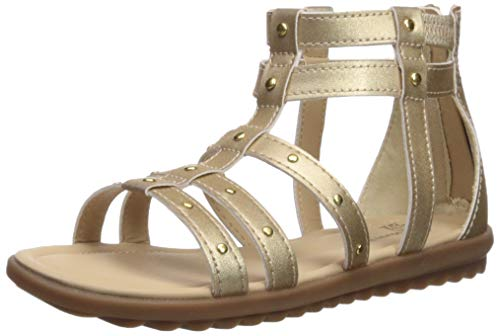 Hush Puppies Girls' Addie Sandal, Gold, 120 Medium US Little Kid (Hush Sandals Puppies Kids)