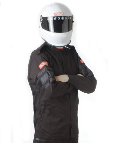 (RaceQuip 111006 111 Series X-Large Black SFI 3.2A/1 Single Layer Driving Jacket)