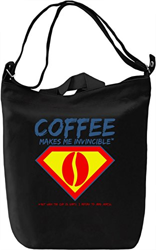 Coffee makes me invincible Borsa Giornaliera Canvas Canvas Day Bag| 100% Premium Cotton Canvas| DTG Printing|
