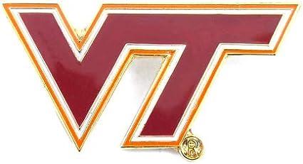 NCAA COLLEGE UNIVERSITY FOOTBALL BASKETBALL VIRGINIA TECH LOGO PIN