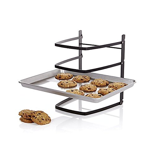 Linden Sweden Metal Baker's Cooling Rack - Adjustable 4-Tier Baker's Shelf for Baking Sheets, Pizza Stones and Muffin Tins - Great for Crafts and Organization - Folds Flat for Easy Storage