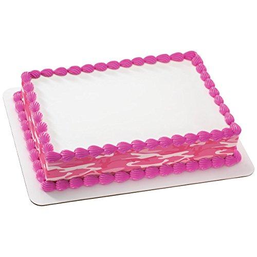 Pink Camo Edible Cake Strips # 528