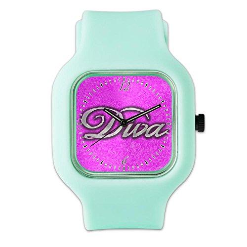 SeaFoam Fashion Sport Watch Pink Diva Princess by Royal Lion