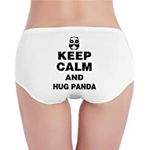 Keep Calm And Hug Panda Women's Comfort Soft Low-Rise Brief Panty