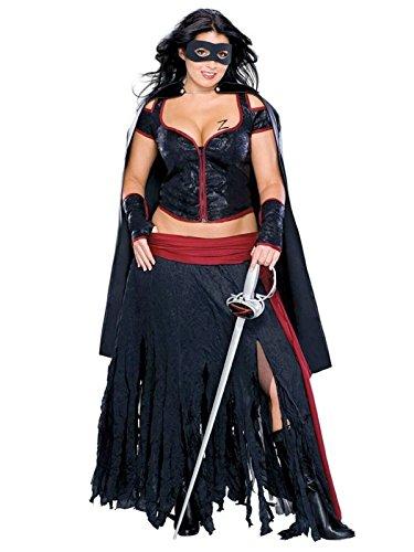 Lady Zorro Plus Size Adult Costume - Plus Size