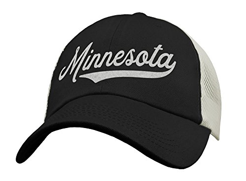State of Minnesota Trucker Hat Baseball Cap - Snapback Mesh Low Profile Unstructured Sports - MN USA