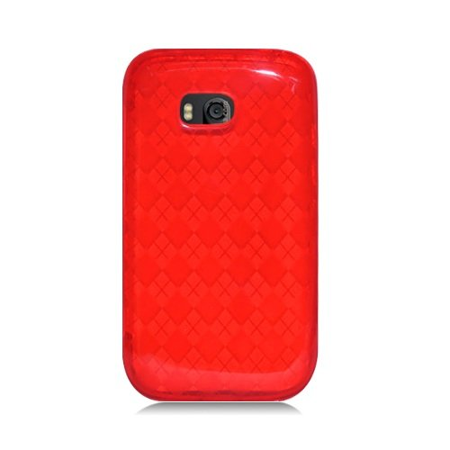 Bundle Accessory For Verizon Nokia Lumia 822 - Red TPU Soft Case Protective Cover + Lf Stylus Pen + Lf Screen Wiper ()