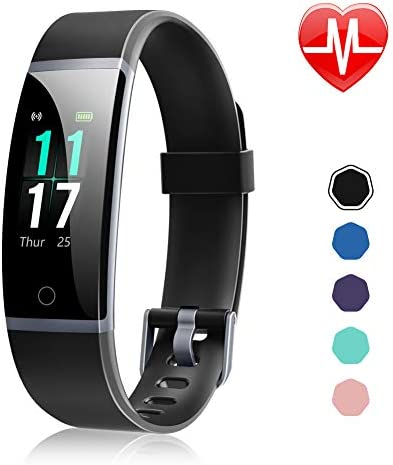 Letsfit Fitness Tracker, Activity Tracker Watch with Heart Rate Monitor, Waterproof IP68 Smart Watch with Step Counter, Calorie Counter, Call SMS Pedometer Watch for Women Men Kids