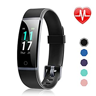 Letsfit Fitness Tracker, Activity Tracker Watch with Heart Rate Monitor, IP68 Standard Smart Watch with Step Counter, Calorie Counter, Call & SMS Pedometer Watch for Women Men Kids