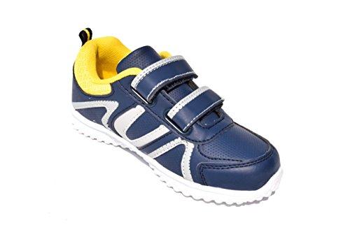 BTS - Zapatillas de Piel para niño 36 Varios Colores - Navy/ Gelb