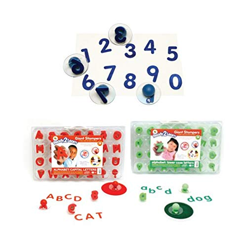 (Knobbed Numbers and Upper and Lowercase Alphabet Stamper Set)